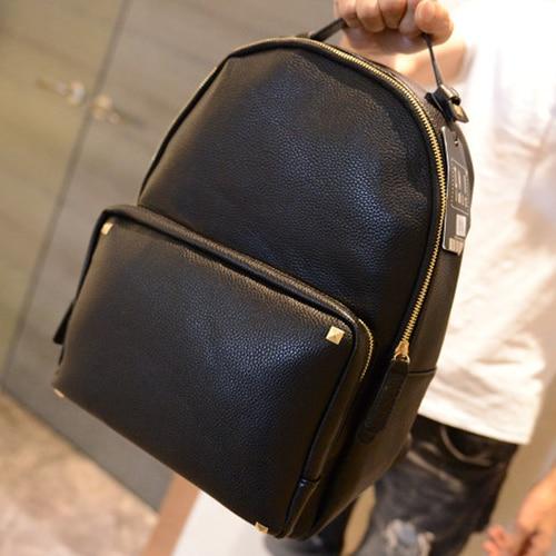a71789bbfa1 2014 Korean brands Fashion men backpacks Litchi grain men s travel bags  laptop bag women backpack leather mochila masculina-in Backpacks from  Luggage   Bags ...