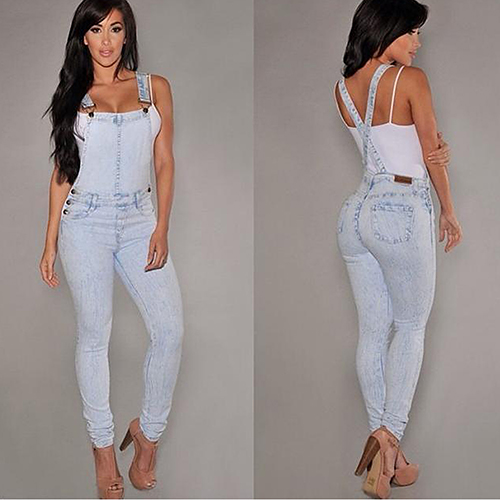 Women Sexy Slim Fit Baggy Loose Jeans Denim Overalls Pants Jumpsuit Rompers