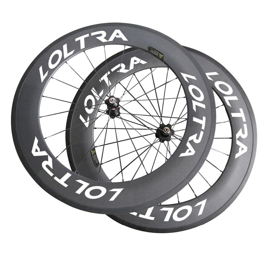 Цена за Бесплатная доставка LOLTRA 88 мм clincher углерода колесной базальт тормоз поверхности освободите лента rim говорил, соска, шампур, тормозных колодок