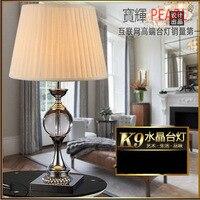 YOOK 35*62 см европейские Кристалл Гостиная настольная лампа Спальня прикроватной тумбочке светодио дный настольная лампа современные декорат