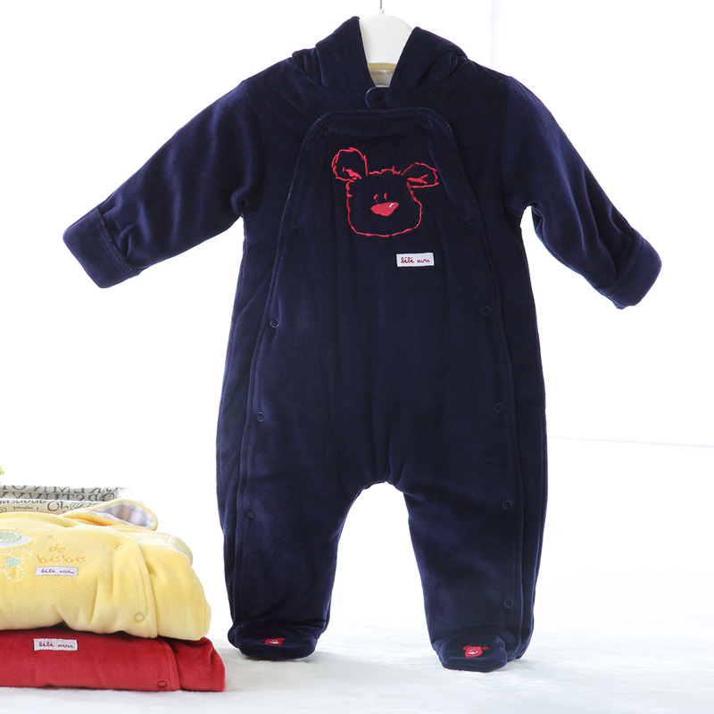 Baby romper Pajama overalls Baby climb thick warm Long Sleeves 100% Cotton Winter Newborn Baby Girl Clothes Boy Clothes baby girl clothes baby winter suit spring and autumn warm baby boy clothes newborn fashion cotton clothes two sets of underwear