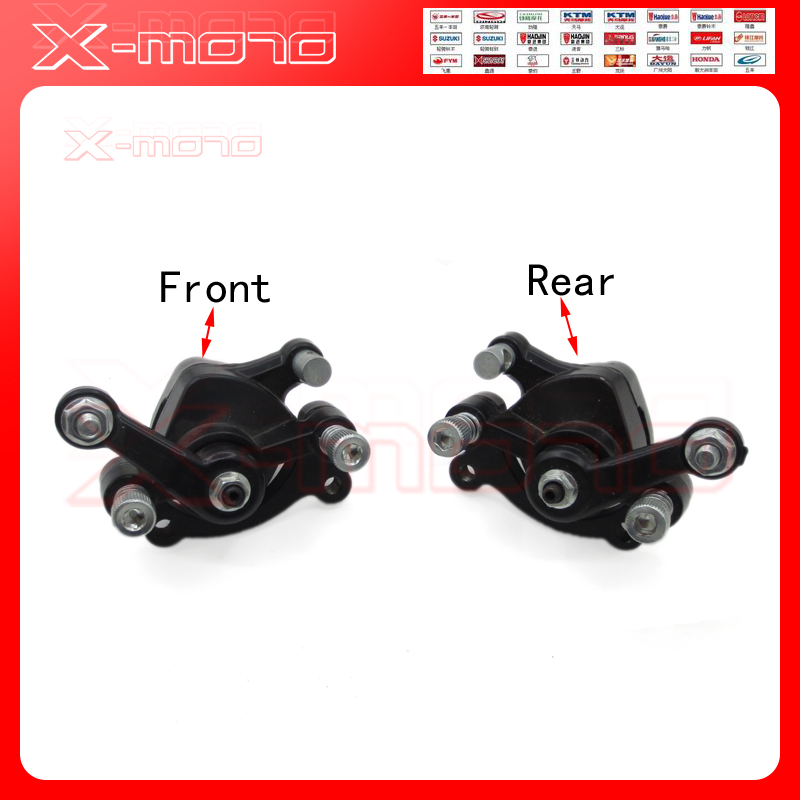 Front & Rear Disc Brake Caliper for 2 Stroke 33cc 43cc 49cc Mini Moto Kids Dirt Pocket Bike ATV Quad Go Kart Gas Scooter disc brake caliper pads disk brake pads for atv quad dirt bike pit bike buggy go kart scooter motorcycle free shipping
