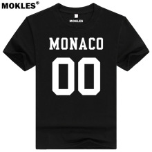 MONACO t shirt diy free custom made name number mco t-shirt nation flag mc french country college university print text clothing