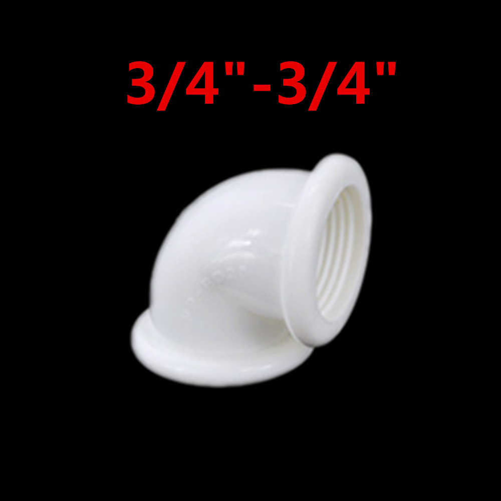 Female x Female Thread 1 2 quot 3 4 quot 1 quot 90 Deg Plastic Elbow Pipe Fitting Connector Coupler For Water Fuel PPR in Pipe Fittings from Home Improvement
