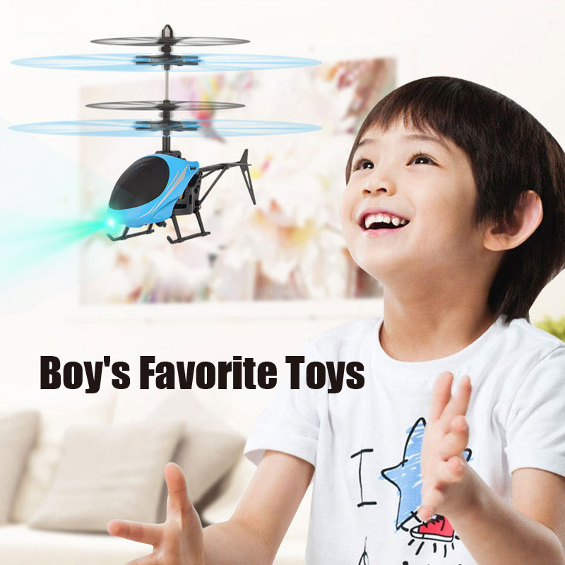 Kids Mini RC Drone Fly RC Helicopter LED Light Remote Control Toys Aircraft Suspension Induction Helicopter Toys For Children