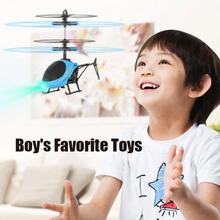 Kids Mini RC Drone Fly RC Helicopter LED Light Remote Control Toys Aircraft Susp