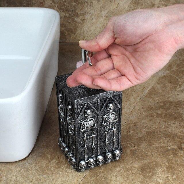 1pc Skull Shower Gel Dispenser Bottle Liquid Soap Dispenser Pump Hand Sanitizer Shampoo Lotion Bottle with Dispenser 450ml 1