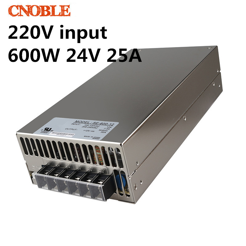 600W 24V adjustable 25A 220V input Single Output Switching power supply for LED Strip light AC to DC