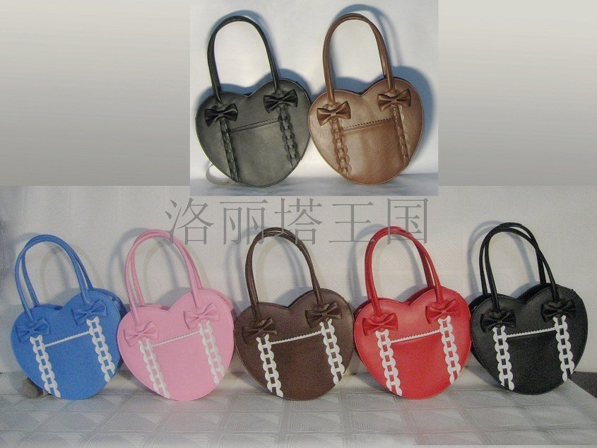 Lolita Princess Lolita bag cos bag peach heart handbag multicolor girls loris006