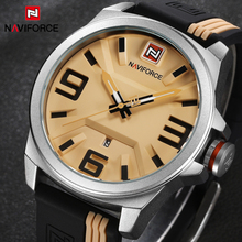Watches Men NAVIFORCE Brand Sports Watches Men Waterproof Silicone Rubber Strap Quartz Watch Students Fashion Casual Wristwatch