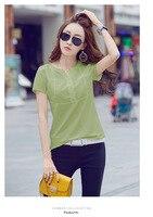 Shirt Tee Vogue Summer Tops Female Clothes Van Gogh Oil Print Round H342