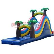 เป็นมิตรกับสิ่งแวดล้อม PVC inflatable water slide paradise ดั้งเดิม Forest Adventure Park