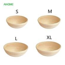 4 размера круглый ротанга Brotform Хлеб Доказывая корзина тесто для пробных цветущие корзины Banneton выпечки Инструменты