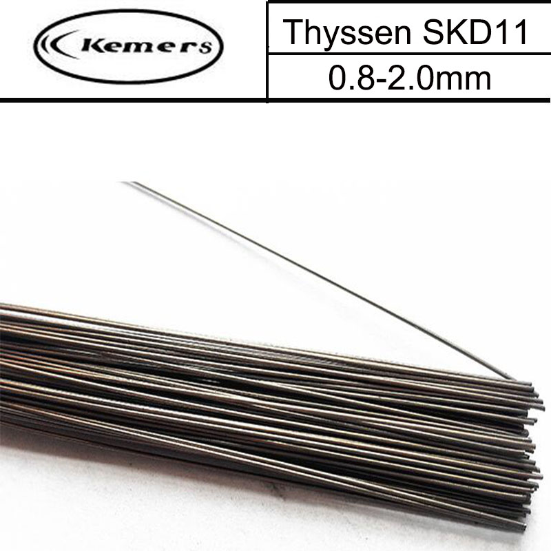 1KG/Pack Thyssen SKD11 Mould Steel TIG Welding Wire Filling Welding Material for Cold Work Die Steel (0.8/1.0/1.2/2.0mm) H22161 professional welding wire feeder 24v wire feed assembly 0 8 1 0mm 03 04 detault wire feeder mig mag welding machine ssj 18