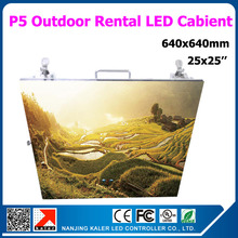TEEHO 4pcs a lot  640x640mm p5 outdoor rental led display cabinet linsn receiving card RV908 1pcs road case waterproof led wall
