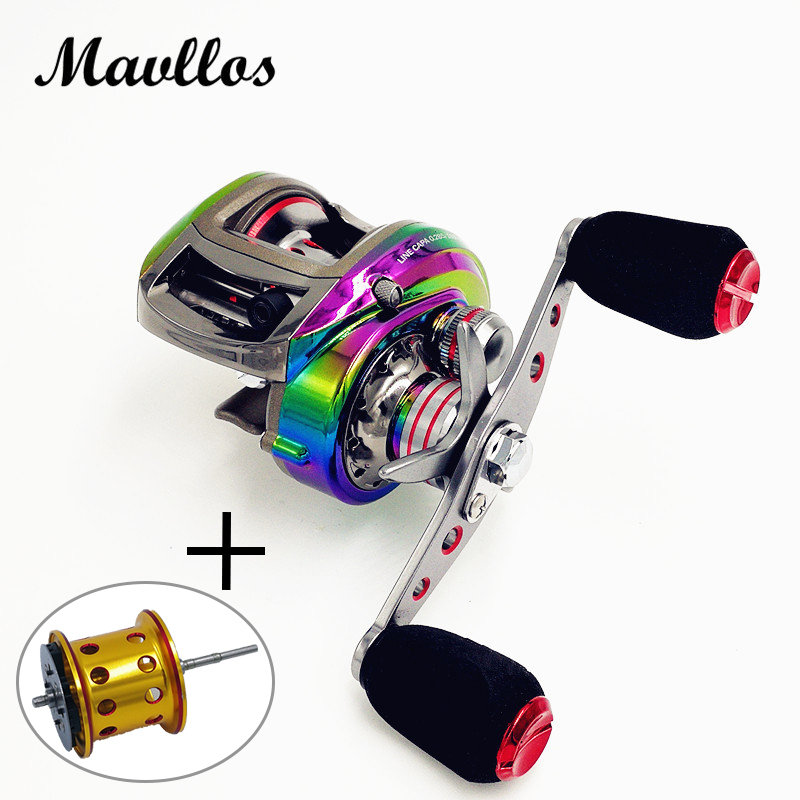 Mavllos Aluminum Alloy Carbon Body Brand Saltwater Fishing Baitcasting Reel 6.3:1 Left Right Hand Bait Casting Low Profile Reel hlw 19bb brand saltwater fishing baitcasting reel left right hand metal spool handle bait casting reel fishing reel carbon reels