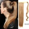 2016 1 шт. реальных природных блондинку-ponytails 60 см длинные прямые хвосты волосы для женщин красоты накладные искусственные волосы хвост