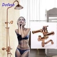 Dofaso luxury vintage bath shower set Rose Gold Oil Rubbed Bronze Bath Shower Faucets with Handshower Tub Filler