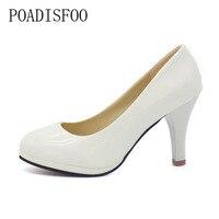 Shoes Women 2015 New Summer Style Women Shoes Zapatos Mujer Work Women PU Thin Heels Pumps