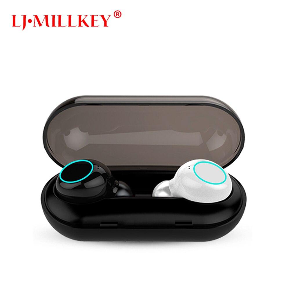 V5.0 2018 Neue Bluetooth V5.0 TWS Kopfhörer Wahre Wireless Stereo Ohrhörer IPX8 Wasserdichte SILBE Bluetooth Headset für Telefon YZ205