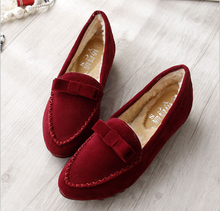 Autumn And Winter shoes women Non-slip soft bottom Height Increasing casual women shoes with plush Suede Increased within 3.5cm