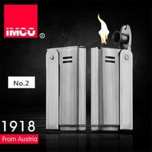 브랜드 imco 6800 라이터 스테인레스 스틸 라이터 원래 오일 가솔린 담배 라이터 빈티지 화재 레트로 가솔린 선물 라이터