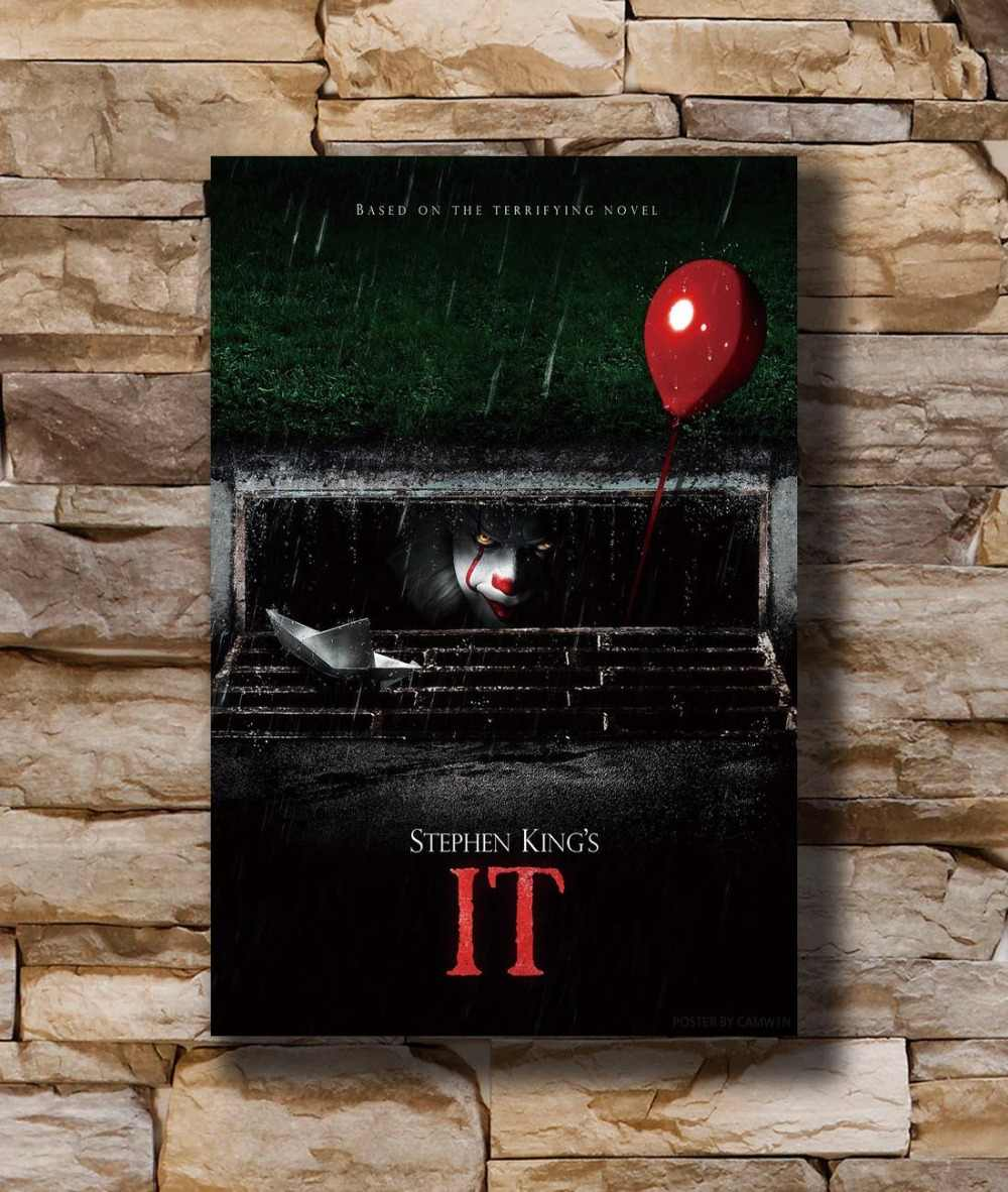 N1511 2017 HET Movie Stephen King Pennywise 8x12 20x30 24x36 Silk Poster Art L-W canvas Print Decoratie