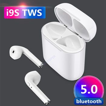 A+++ i9S TWS Wireless Bluetooth 5.0 Earphones Binaural Calling Headphone With Charging Box air pods Stereo Headset for all phone protectores de cargador iphone
