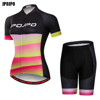JPOJPO Summer Women MTB Bike Cycling Jersey 2018 Cycling Clothing Breathable Ropa Ciclismo Cycling Jersey Sets