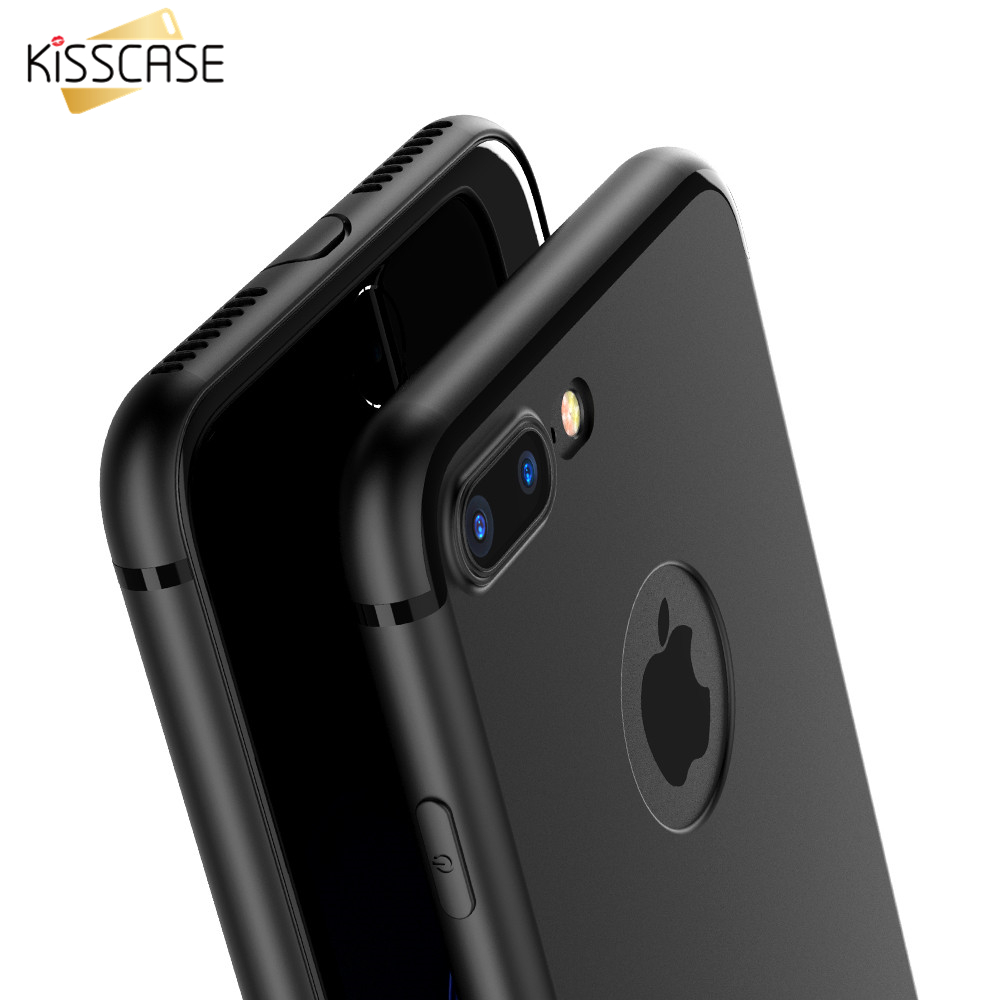 KISSCASE Ultra Thin Matte TPU Case For iPhone 6 6s 7 Plus 5 5s Black Cover For iPhone 7 6 Plus Soft Shell Capa For iPhone 6 6s