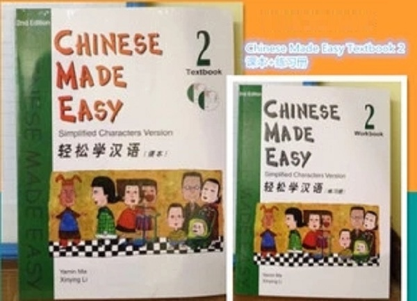 2Pcs/lot Chinese English bilingual book students workbook and Textbook: Chinese Made Easy (Level 2)