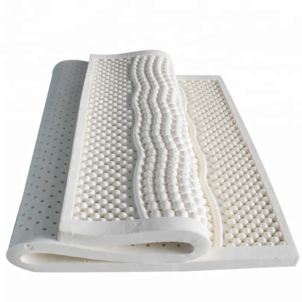 Natural Latex Mattress Breathable Ventilated 7 Zone Massage Sleeping Mattress Single Double Size Bed Mattress wfgogo thickness 23 cm spring mattress twin high density vacuum compression foam latex soft bed bedding