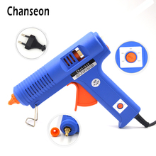 Chanseon Hot Melt Glue Gun 11mm 150W EU Plug Glue Heater Copper Nozzle With Free 1pc