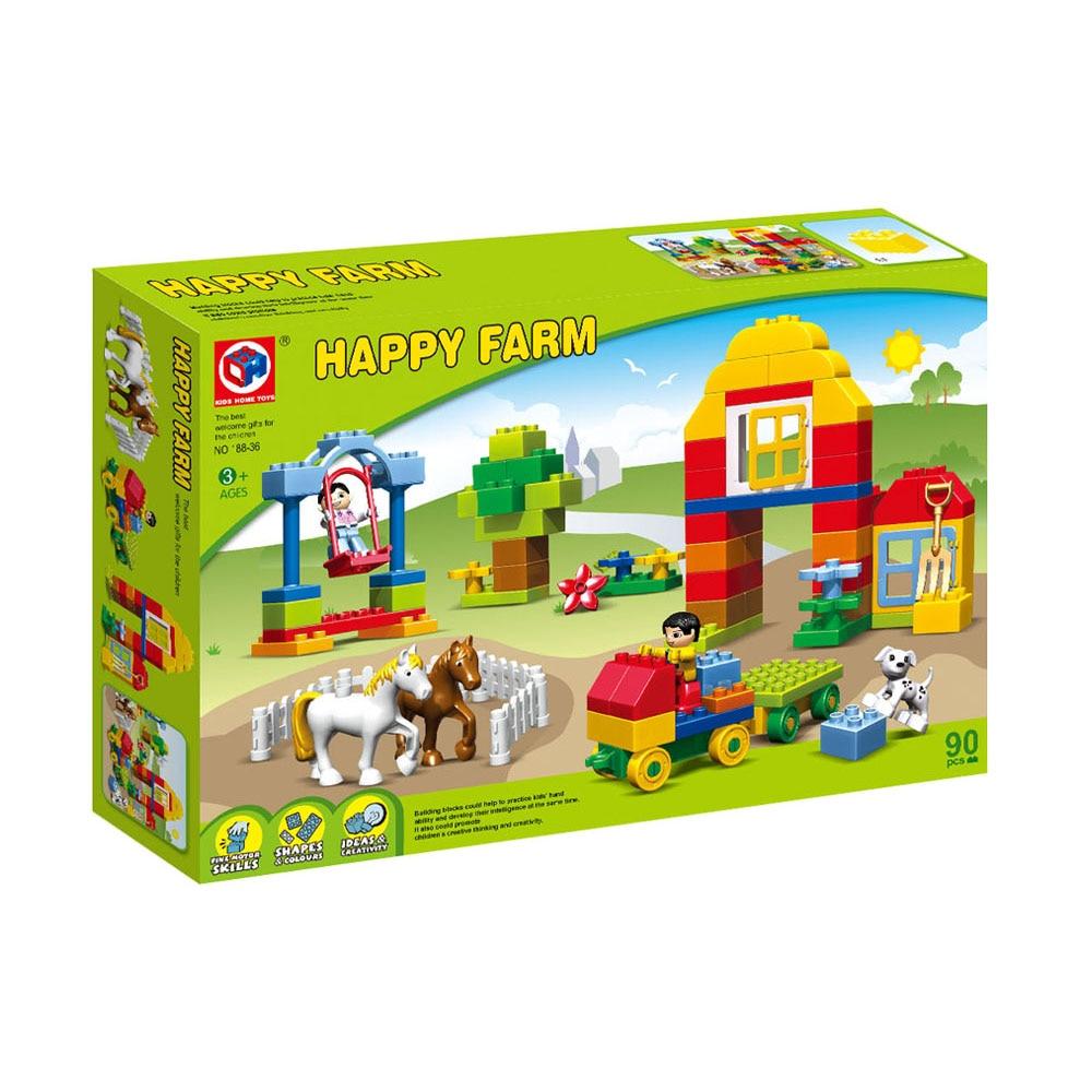 90pcs Happy Farm Haiwan Blok Bangunan Sets Partikel besar Animal - Mainan pembinaan - Foto 6
