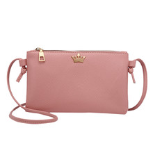 New Womens Pu Leather Fashion Crossbody Bag Hot Sale Pure Color Shoulder Bags Small Messenger Bag Coin Purse Phone Bag      10