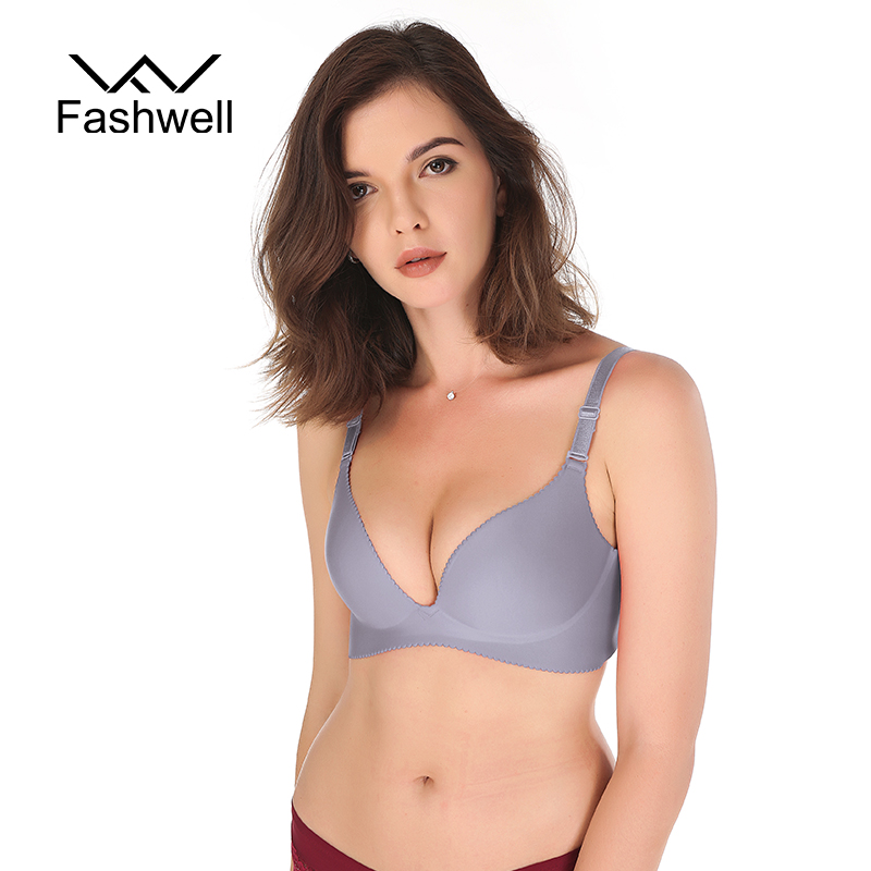 Fashwell Sexy Push Up Seamless Bras For Women Lingerie Wire Free Adjustable Solid Underwear bralette Bras Ladies