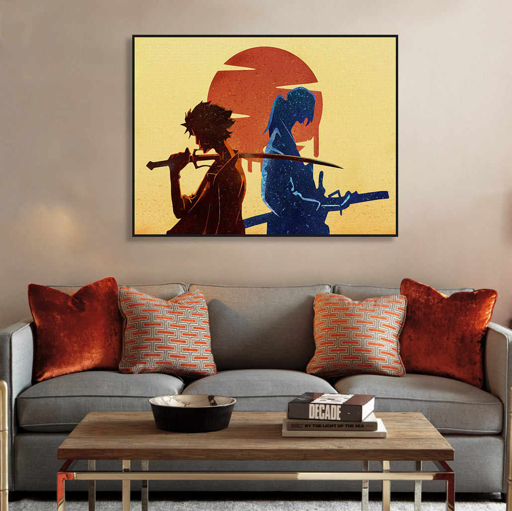 Samurai Champloo Anime Poster Boy Bedroom Decorative Painting Wall Art Canvas Unframed Garden Decoration Drawing Oil Picture