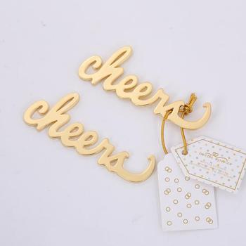 Marriage wedding party favor gifts Alloy cheer beer bottle opener for Home Kitchen Bar Supplies LX2843