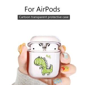 Image 2 - Dessin animé étui pour écouteurs pour Airpods 2 PC mignon housse pour Apple Airpods 2 AirPods 1 pochette transparente Bluetooth écouteurs accessoires