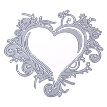 10x8.7cm Lace Love Heart Cutting Dies Metal Stencils For DIY Scrapbooking Photo Album Embossing Decorative Craft(China)