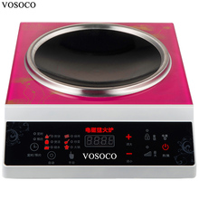 VOSOCO High power commercial electromagnetic furnace 3500W concave electromagnetic oven induction cooker Touch type 8 gear 220V