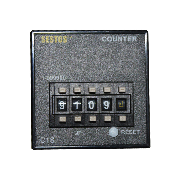 Sestos Coded Switch Digital Counter Industrial Register Omron Relay 12-24V C1S ac380v panel mount 8p 1 999900 count range digital counter relay dh48j dpdt