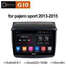 Android 8.1 Quad Core 2GB RAM+16GB ROM Car DVD Player For Mitsubishi Pajero Sport 2013-2015 GPS Navigation Radio Stereo BT WIFI klyde 8 quad core android car dvd multimedia player radio stereo 2gb ram 3g 4g wifi dab swc for kia k3 forte cerato 2013 2017