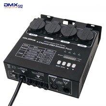 Fabryka hurtownie 4 kanałów DMX ściemniacz i przełącznik opakowanie z 16 zbudowany w świetle programów 4CH przełącznik do oświetlenia scenicznego oprawy oświetleniowe