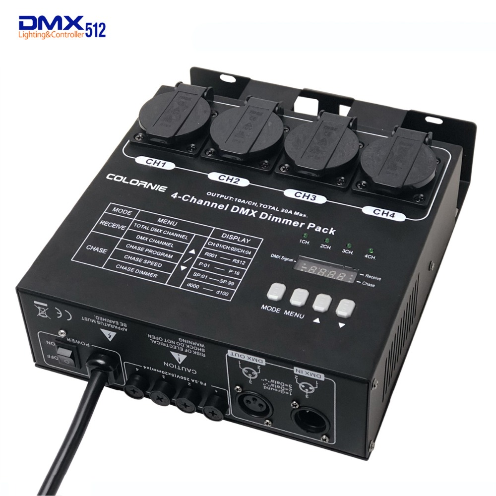 Factory Wholesale 4 Channel DMX Dimmer And Switch Pack With 16 Built In Light Programs 4CH Switcher For Stage Light Fixtures