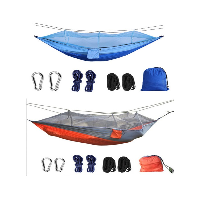 Drop Shipping Portable Mosquito Net Hammock Tent With Adjustable Straps And Carabiners Large Stocking solid Colors StockCE2022/o