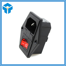 3 d printer accessories Rocker switch power connector plug power socket switch Voltage current 15 a 220 v / 110 v