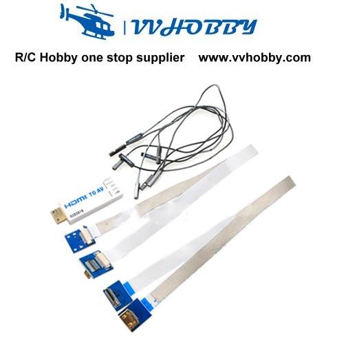 Universal RCD3016 Mini HDMI to AV Converter Set for SONY NEX 5N 5R 5T 6N 7N NIKON D90 D3X Panisonic GH3  GH4 BMPCC CANON neewer nw759 7inch 1280x800 ips screen camera field monitor 1 mini hdmi bmpcc av cable for fpv 16 10 4 3 for sony canon nikon