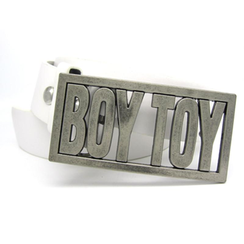BOY toy belt buckle white belt