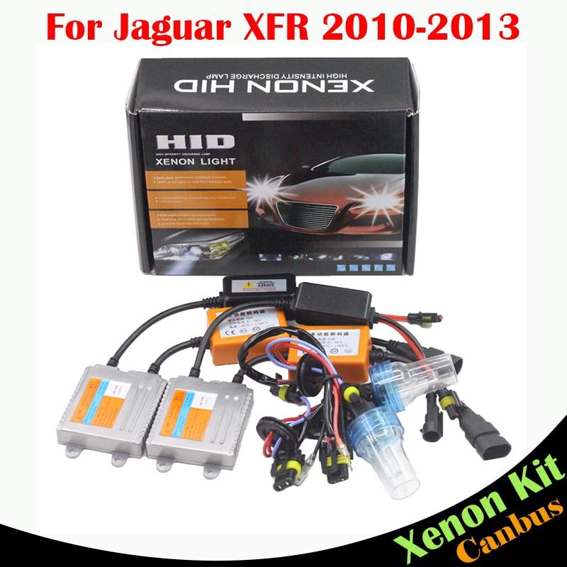 ФОТО Cawanerl 55W Car No Error HID Xenon Kit AC Canbus Ballast Bulb 3000K-8000K For Jaguar XFR 2010-2013 Auto Headlight Low Beam